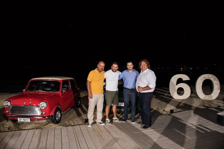 Από δεξιά: Πάρις Ποντίκας, Κώστας Διαμαντής, Βασίλης Σαρημπαλίδης και Βαγγέλης Γκούμας