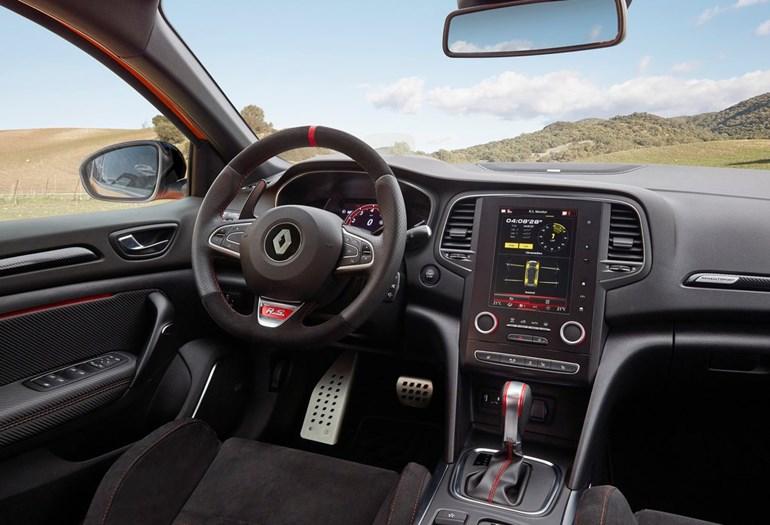 Το εσωτερικό του Renault Megane RS